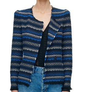 Rebecca Taylor Variegated Tweed Jacket 4 Small